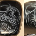 SKULLROSE – by Savvas Koureas (7-2014) rock airbrushing