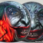 WHY SO SERIOUS 5-6  – by S.Koureas  helmet airbrushing Nicosia