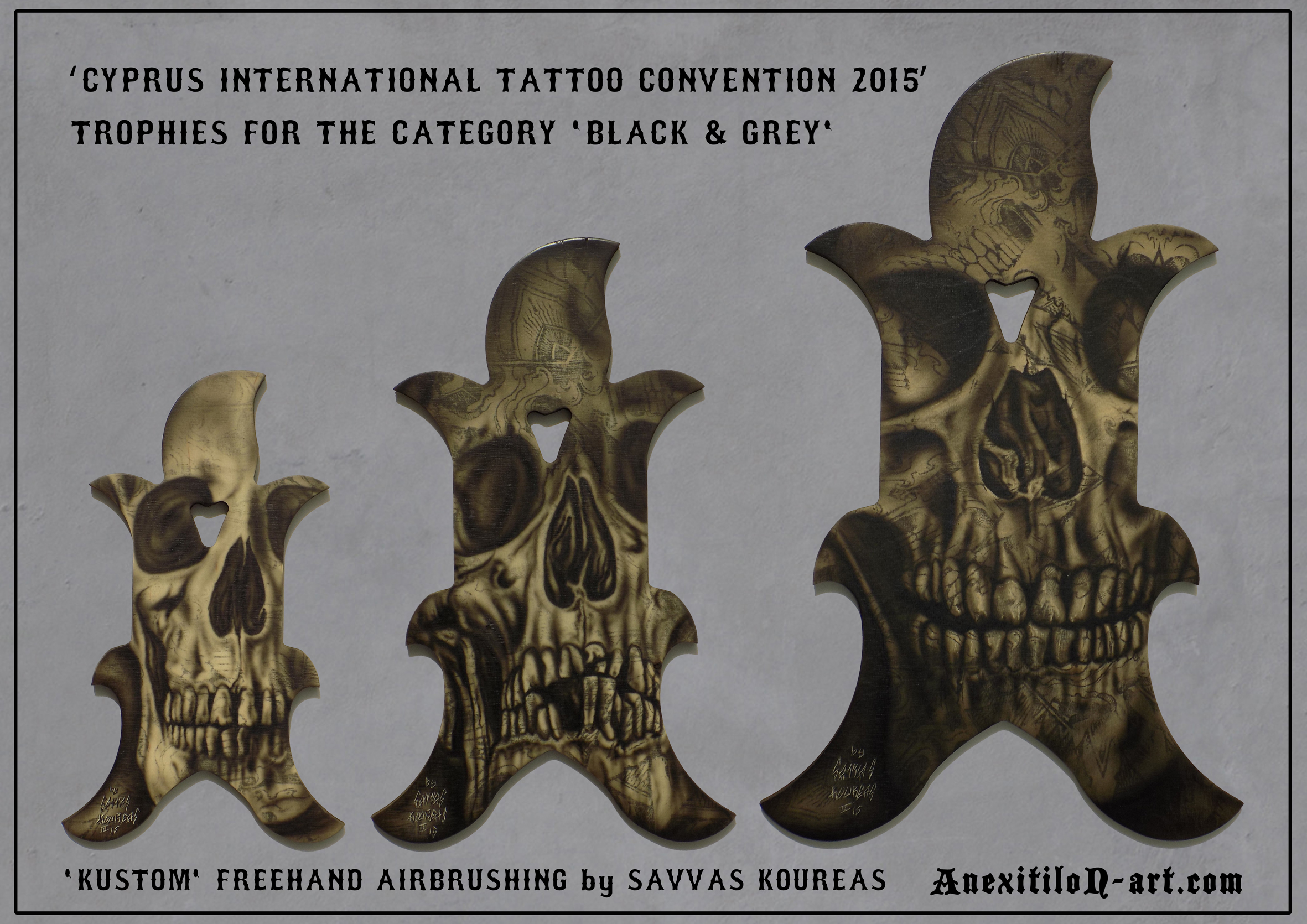 TATTOO CONVENTION TROPHIES by Savvas Koureas
