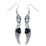 Feather & roses skullies silver (Large)