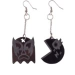 Lucha Libre Packman black drop earrings (Large)