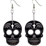 Muerto & Cross drop earrings (Large)