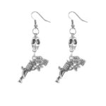 Skull & Pistol earrings (Large)