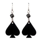 dice & spade drop earrings (Large)