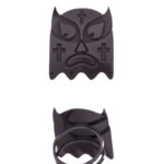 lucha libre cross ring black