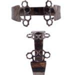 Brass Knuckles Black bracelet (Large)