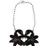 Flamingo Muerto Love &orchidsblack rosarionecklace (Large)