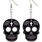 Muerto & Cross drop earrings (Large)