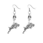Skull & Pistol earrings (Large)