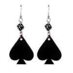 dice & spade drop earrings (Large)